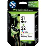 HP 21/22 Original Black / Tri-Colour Ink Cartridge Combo Pack (C9509FC / C9509BN)