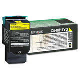 Lexmark C540H1YG Original High Yield Yellow Return Program Toner Cartridge