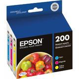 Epson T200520 (Epson 200) Original DURABrite Ultra Ink Cartridges Combo (Cyan/Magenta/Yellow)