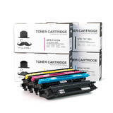 Brother TN-115 BK/C/M/Y New Compatible Toner Cartridge Combo Set - Moustache®