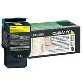 Lexmark C540A1YG Original Yellow Return Program Toner Cartridge