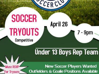 U13 York Jets SC Tryout Information