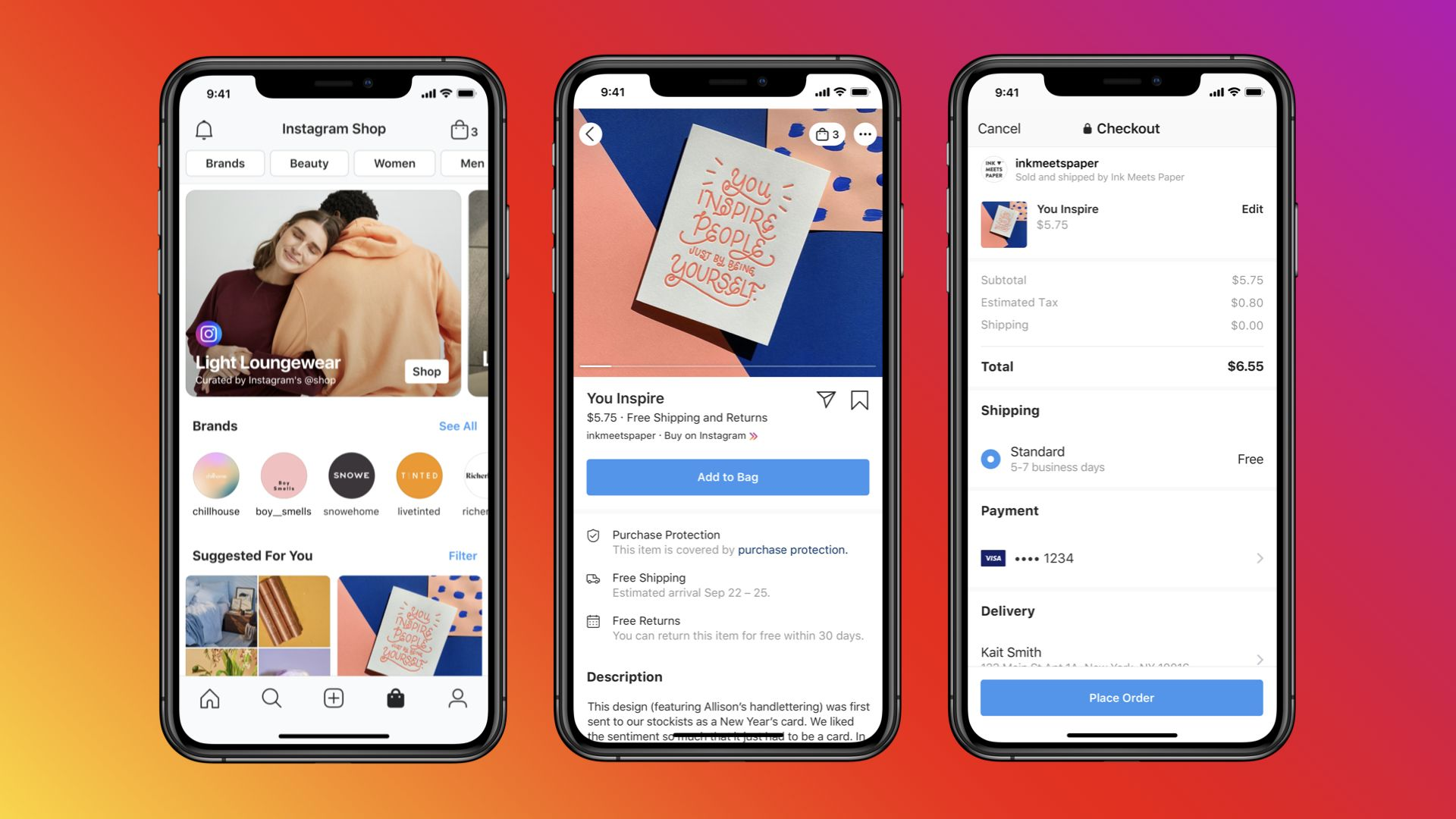 Image of Facebook Shops mockups