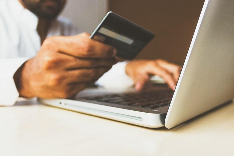 E-commerce customer ready to buy
