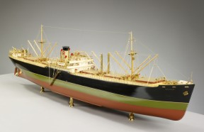 British Cargo Ships, Rodsley, Rawnsley, Rookley and Reaveley, 1939–1940 Builder's Model, scale 1:96 Great Britain wood, metal, gold-plated fittings