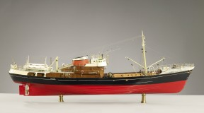 British Trawler, Lammermuir, 1950 Builder's Model, scale 1:32 Great Britain wood, metal, gold- and silver-plated fittings