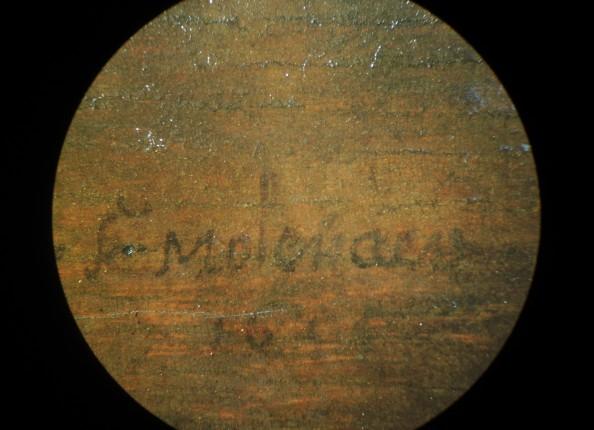 A close view of Molenaer's signature