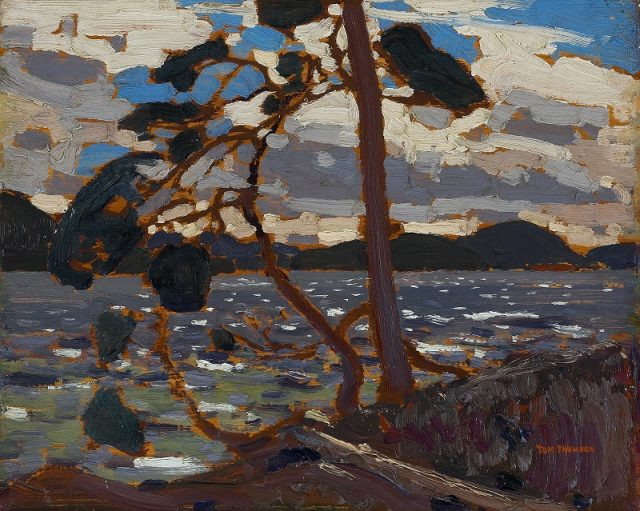 "Tom Thomson, Sketch for ""The West Wind"", 1916, oil on wood panel, 21.4 x 26.8 cm, 0.3 cm, Gift from the J.S. McLean Collection, Toronto, 1969, Donated by the Ontario Heritage Foundation, 1988, © 2016 Art Gallery of Ontario"