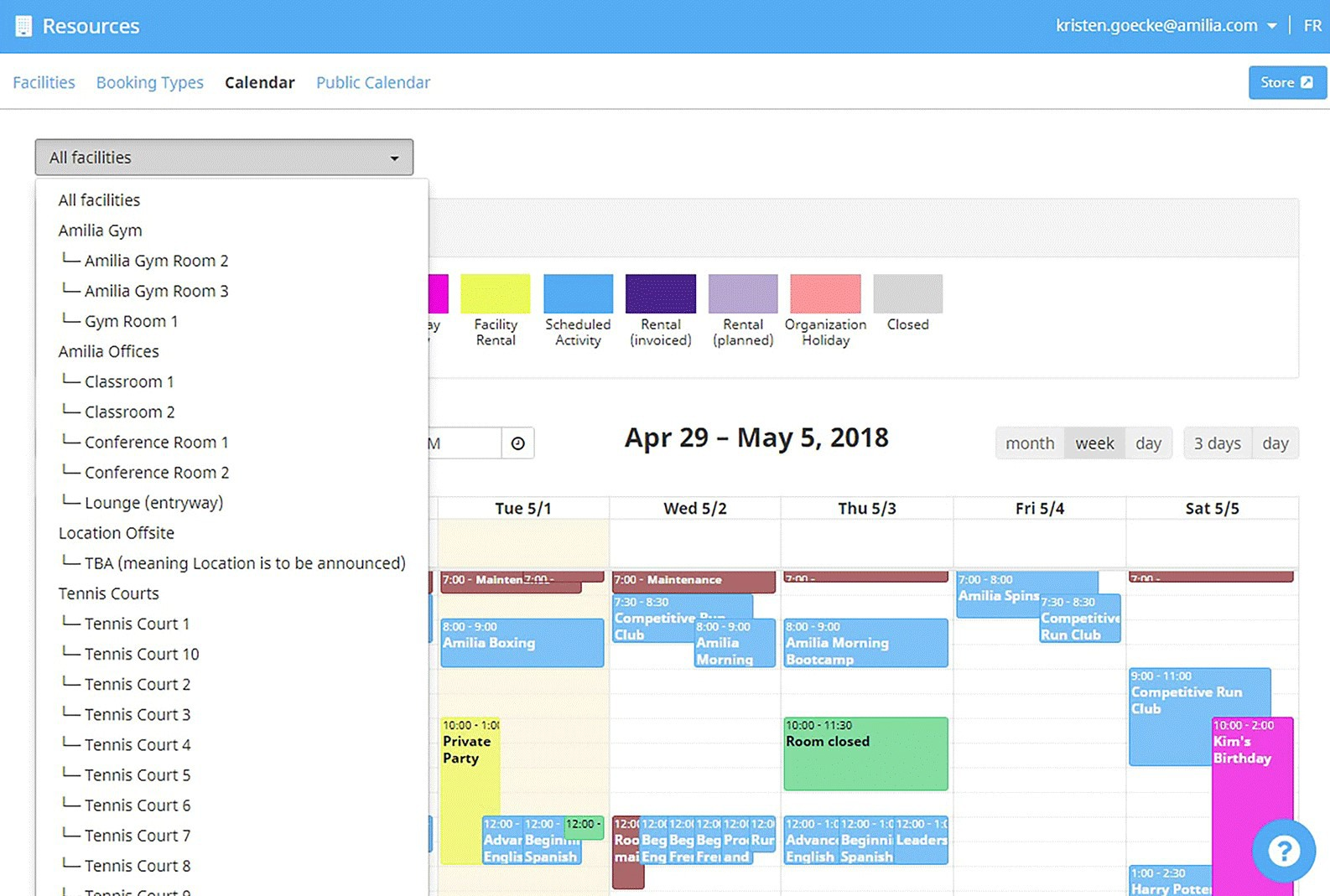 Facility Scheduling Software | Amilia