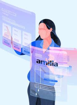 Illustration amilia admin screens 1 bkgd