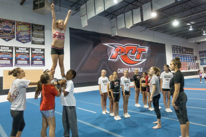 PCT Cheer Practice stunt