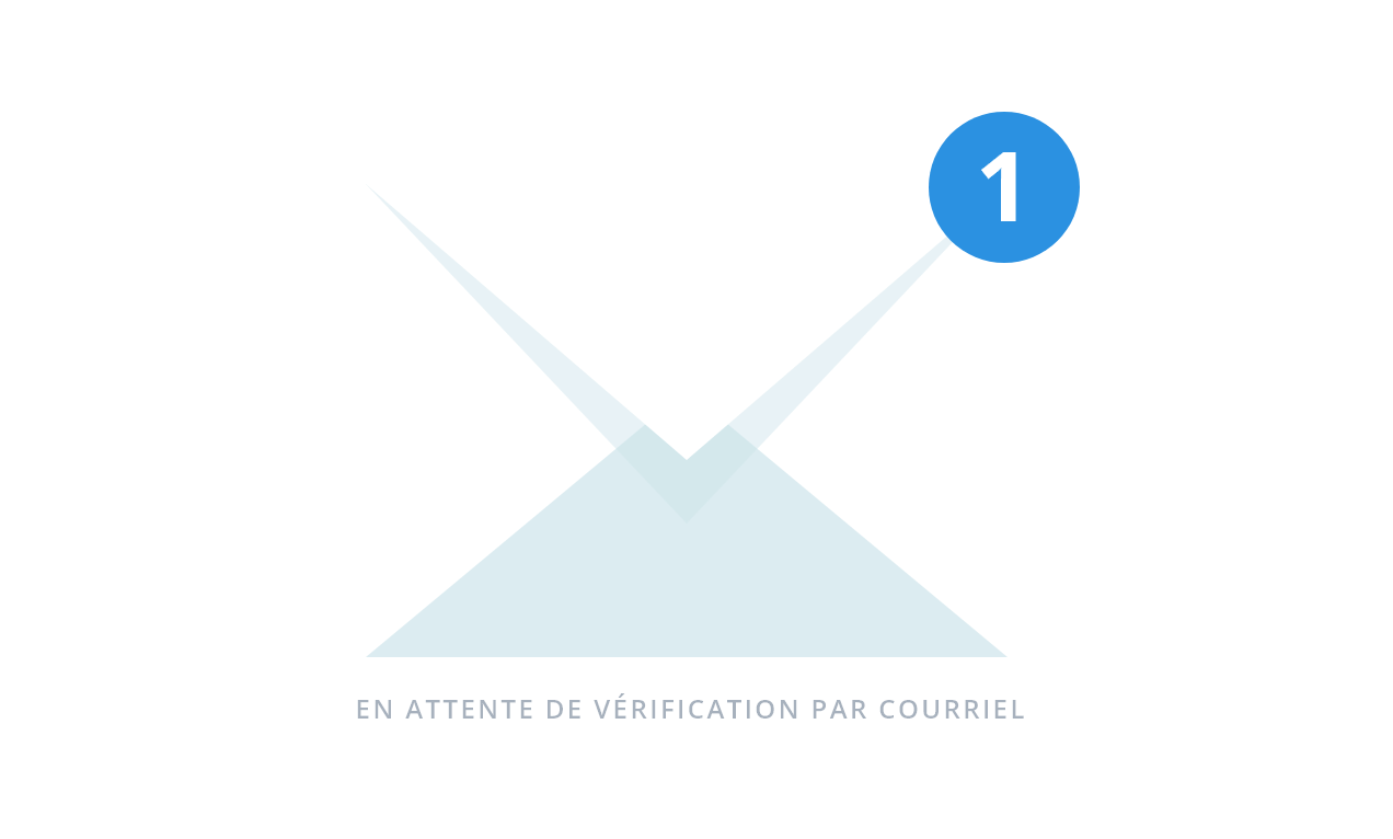 Pending email verification free trial step 2 FR