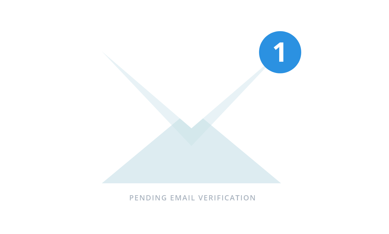 Pending email verification free trial step 2