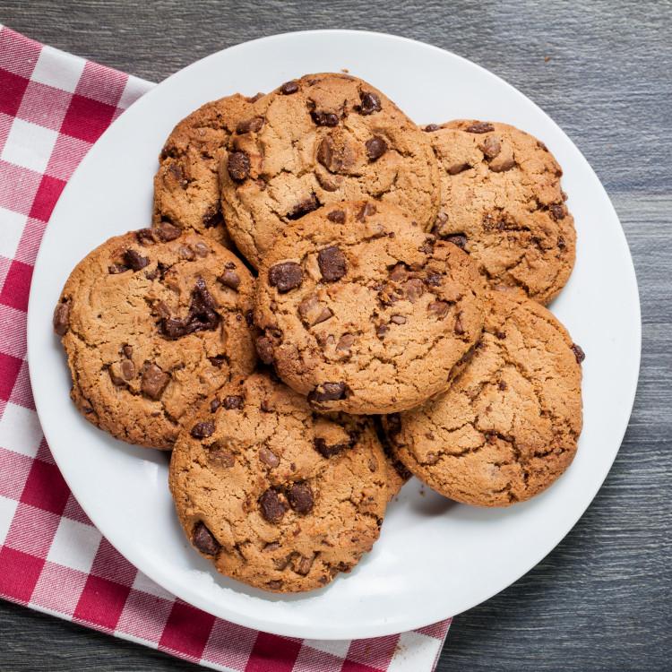 Biscuits chocolat au lait et brisures de caramel