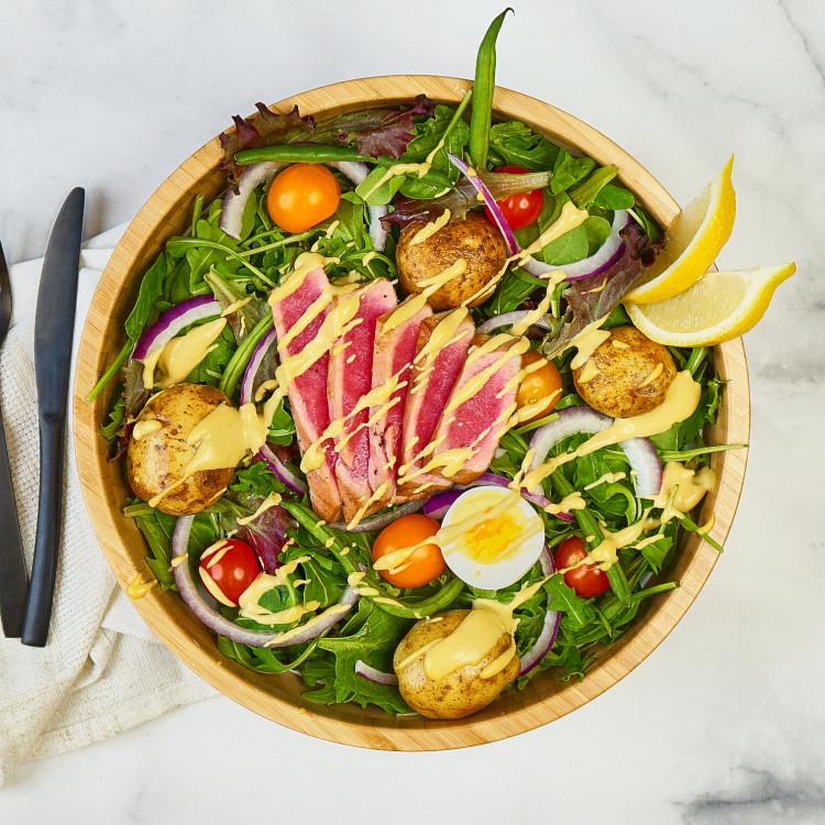 Salade niçoise de thon rosé et légumes