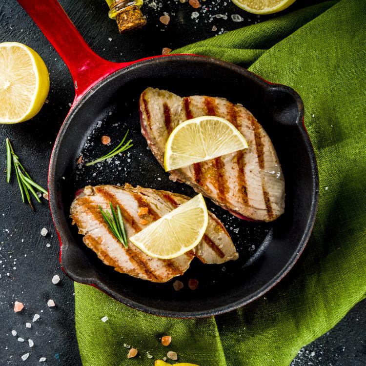 Pavés de thon albacore, sauce romesco