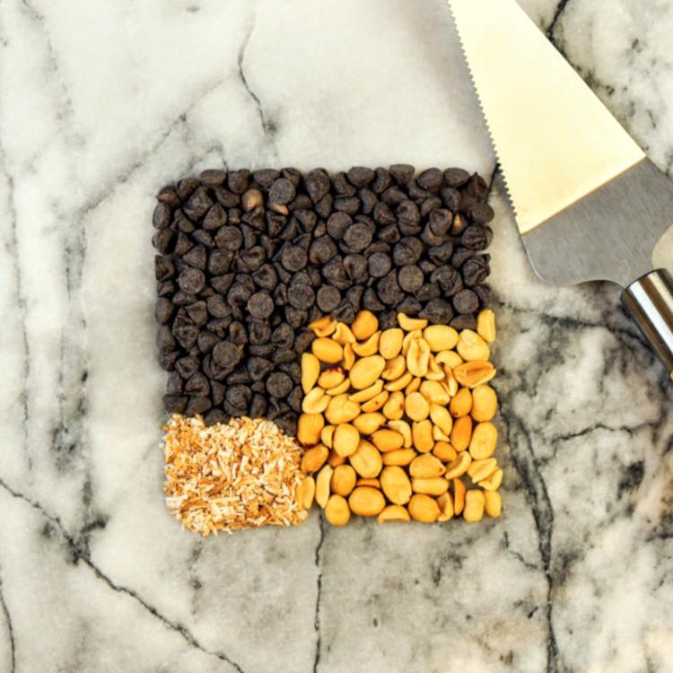 Carré guimauve, chocolat et beurre d'arachides