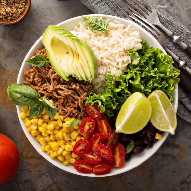 Salade de pulled-pork à la mexicaine
