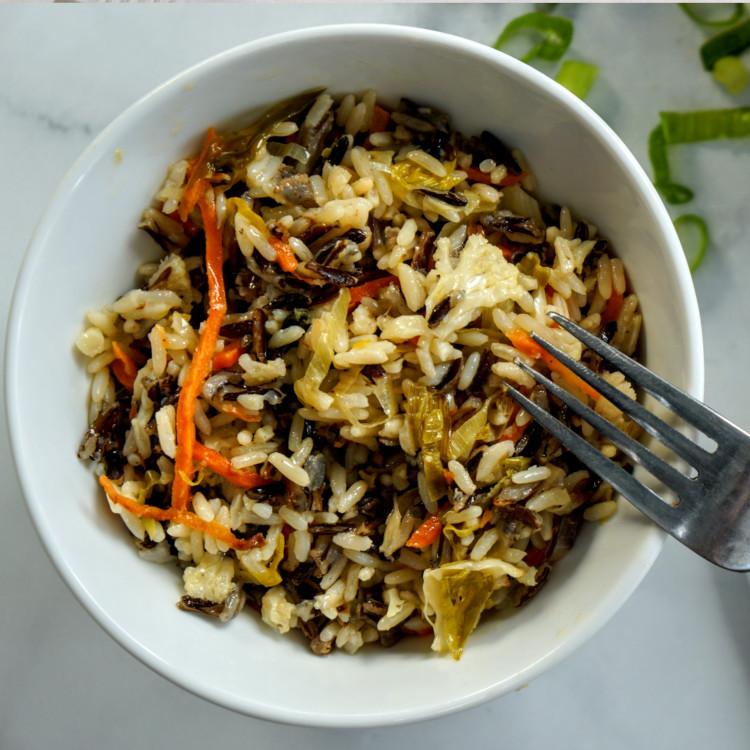 Duo de riz aux légumes