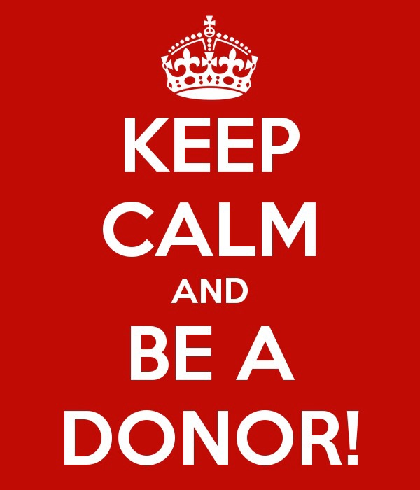 Be a donor, like me!
