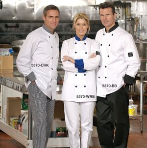 Contrast Trim Chef Coats
