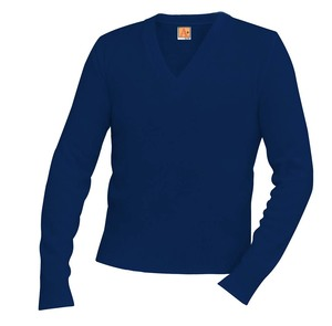 Classic V-Neck Long Sleeve Pullover