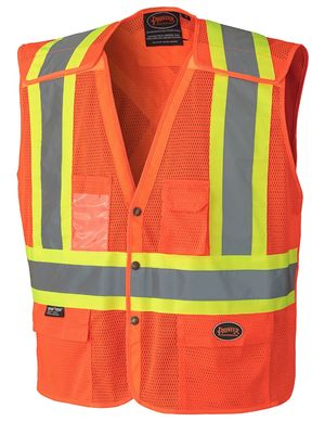 Hi Viz Safety Vest with Snaps