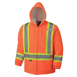 High Visibility Polyester Fleece Laminated Boa Lined Hoodie