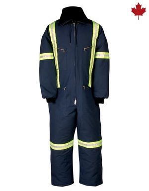 Insulated Coverall with Reflective Material