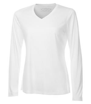 Ladies V-Neck Long Sleeve Shirt