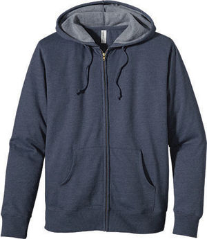 [Eco Friendly] Unisex Organic Recycled Heathered Fleece Zip Hoodie Sweatshirt