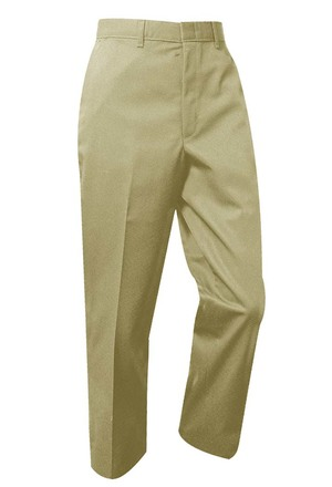 Plain Front Twill Pants