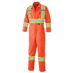 Hi Viz Safety Poly/Cotton Coverall