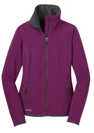 Ladies Vertical Fleece Full Zip Up Jacket