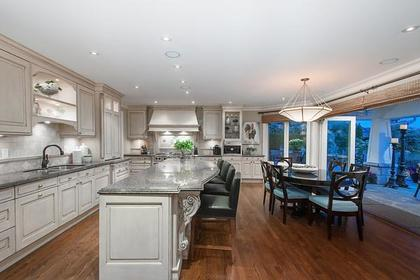 kitchen and eating area at 3480 Mathers Avenue, West Bay, West Vancouver