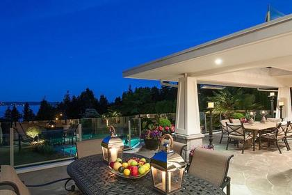 deck from living room at 3480 Mathers Avenue, West Bay, West Vancouver