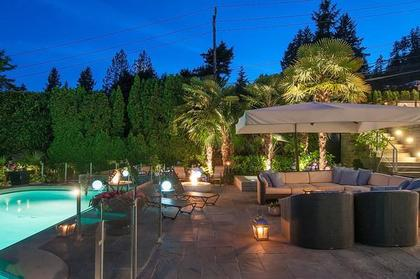 pool deck at 3480 Mathers Avenue, West Bay, West Vancouver