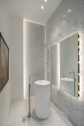 powder room at 1071 Groveland Road, British Properties, West Vancouver