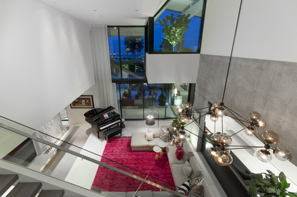 view to lower level from stairs at 1071 Groveland Road, British Properties, West Vancouver