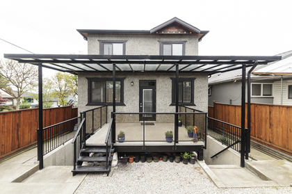 Exterior back at 1304 E 35th Avenue, Knight, Vancouver East