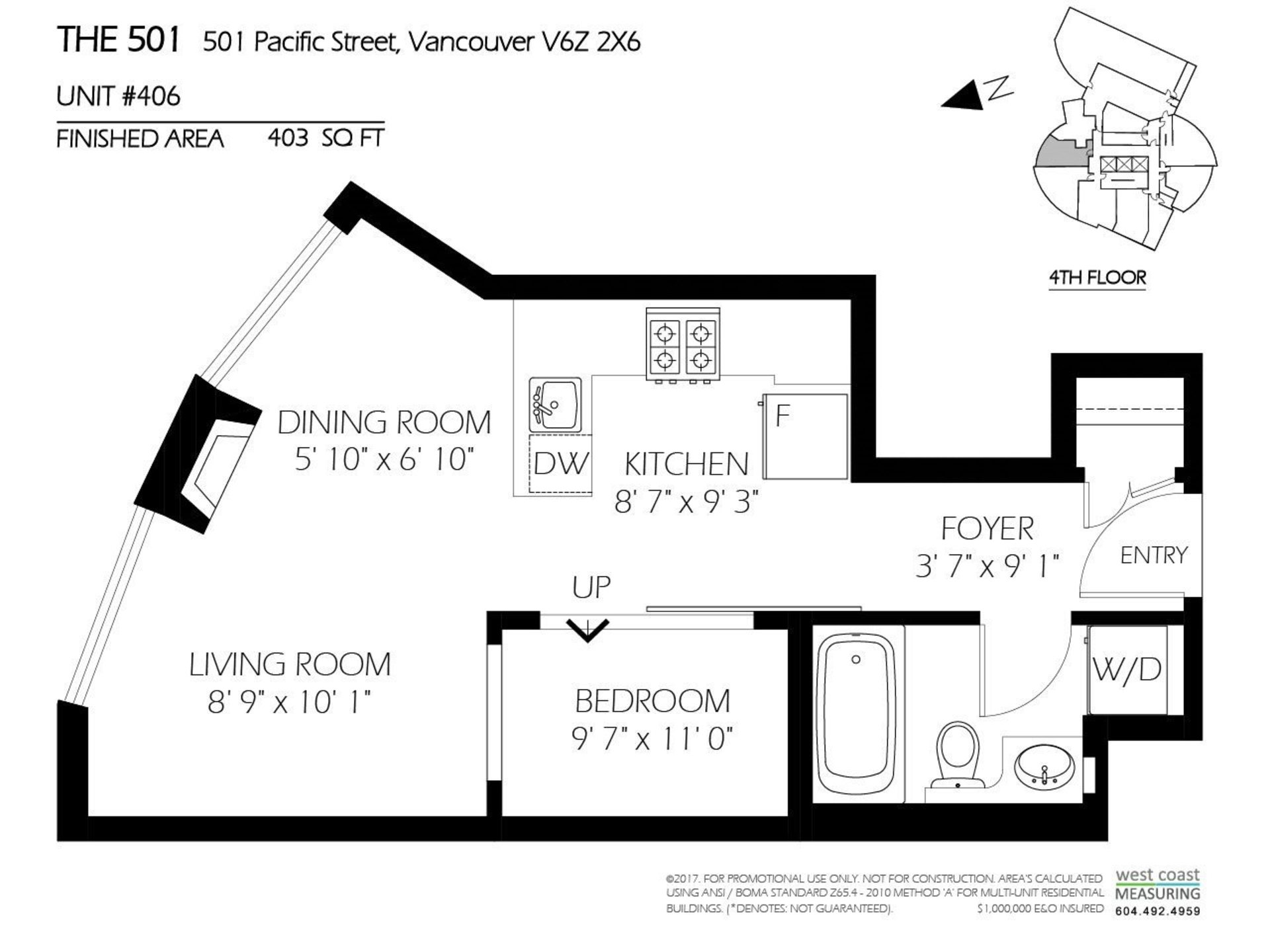 501-pacific-street-yaletown-vancouver-west-20 at 406 - 501 Pacific Street, Yaletown, Vancouver West