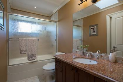 UP bathroom at 3756 Winsford Court, Government Road, Burnaby North