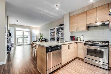 kitchen--living--dining-area at #407 - 1150 Kensal Place, New Horizons, Coquitlam