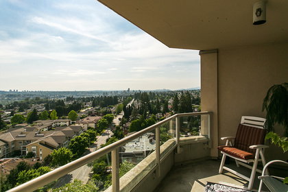 view-covered-balcony at #1703 - 7321 Halifax Street, Simon Fraser Univer., Burnaby North