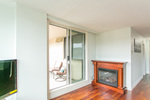 fireplace--balcony at #1606 - 7321 Halifax Street, Simon Fraser Univer., Burnaby North
