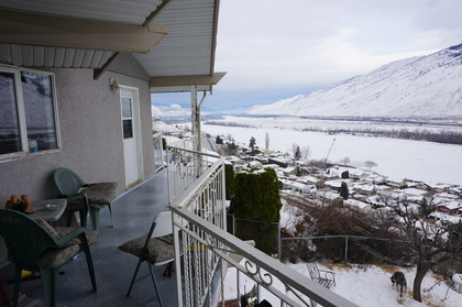View down river at 1799 NORTH River Drive, Batchelor Heights, Kamloops