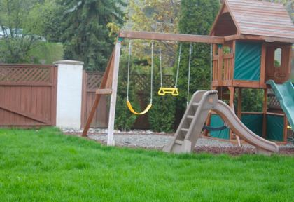 Backyard Playset at 965 Laurel Place, Aberdeen, Kamloops
