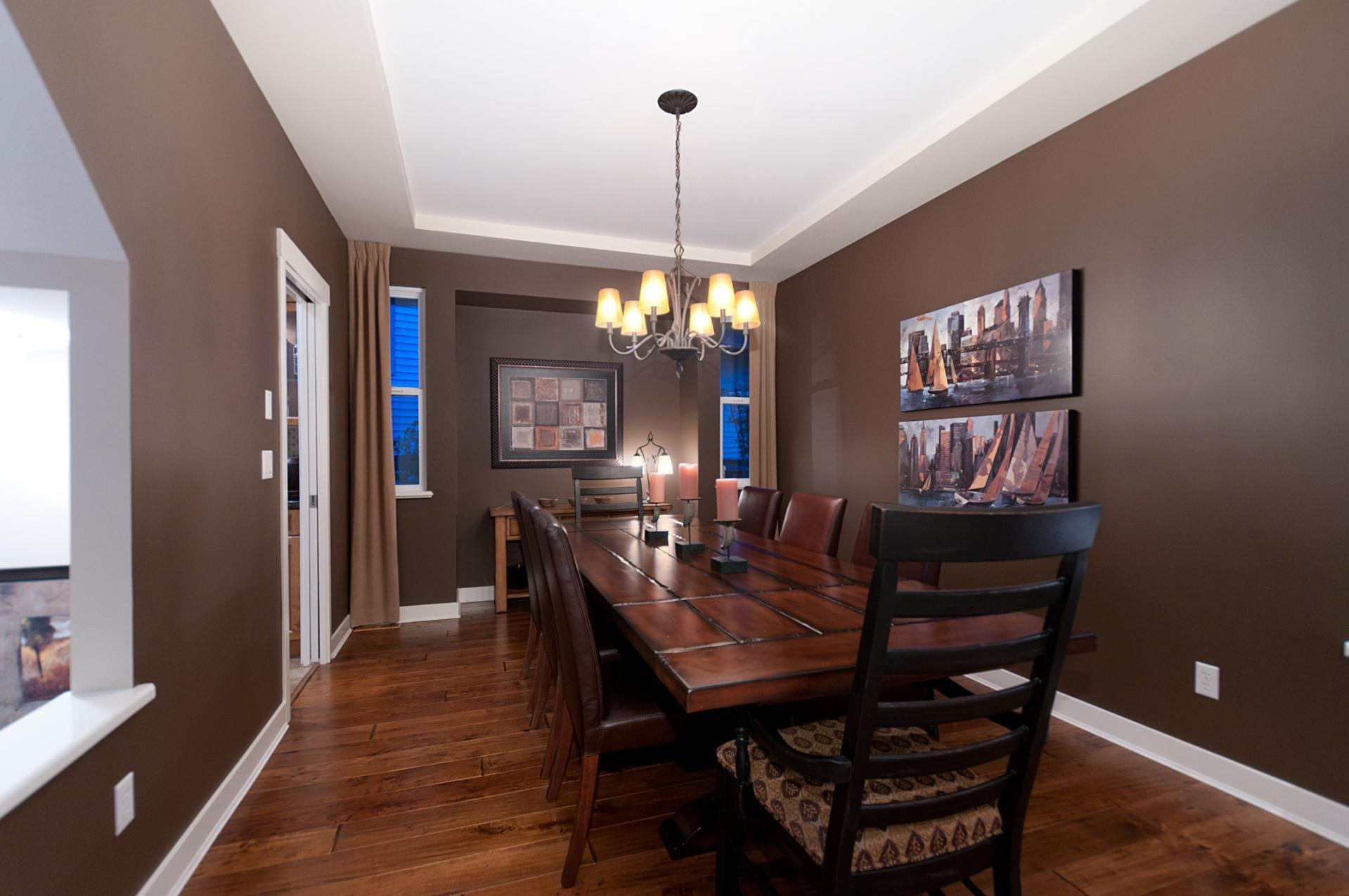 Dinning Room with hard wood floors