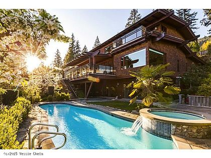 Pool at 3046 Spencer Court, West Vancouver
