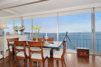 Dining Room at 603 - 150 24th, Dundarave, West Vancouver